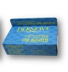 Jabon natural de glicerina de azufre Dernove 100 g