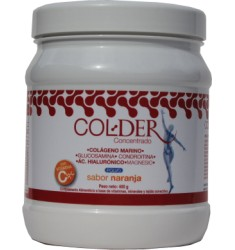 ColDer concentrado. Polvo sabor naranja 400g