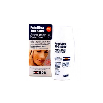 FotoUltra Isdin Active Unify Fusion Fluid Sin color SPF 100 50 ml