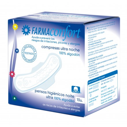 Compresas Ultra Noche Farmaconfort