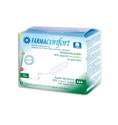 Tampones super sin aplicador Farmaconfort