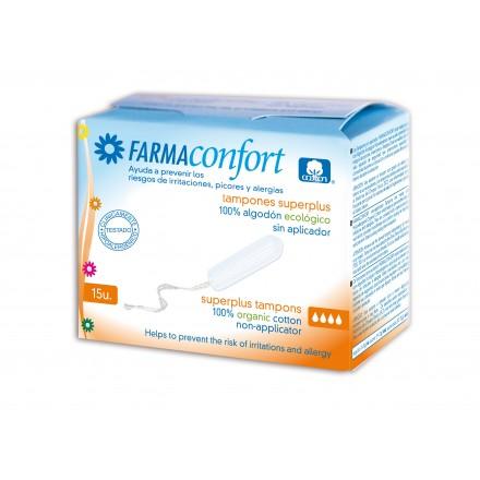 Tampones superplus sin aplicador Farmaconfort
