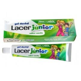 Gel Dental Lacer Junior Sabor menta 75 ml