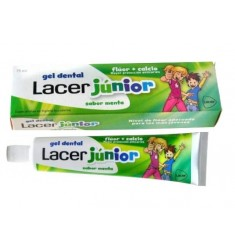 Gel Dental Lacer Junior Sabor menta 75 ml