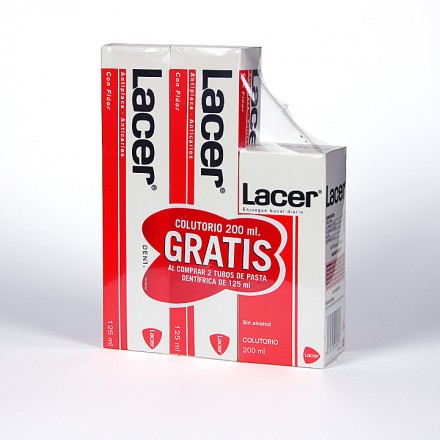 Pasta Lacer + Colutorio 200 ml Gratis
